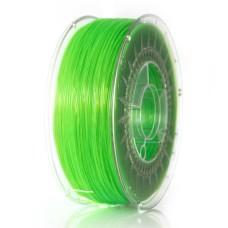 3D filament Devil Design PET-G 1.75mm 1kg – Bright Green Transparent