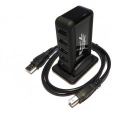 PiHut HUB USB 2.0 - 7 lizdų + 5V 2A maitinimo šaltinis
