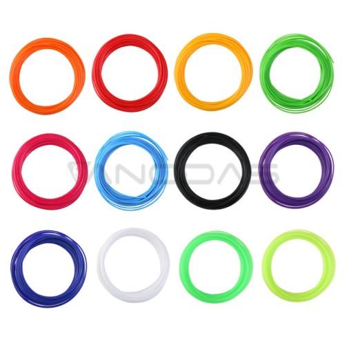 PLA 1.75mm plastikas (12 spalvų)