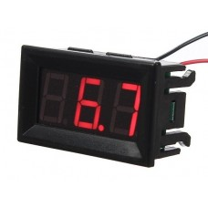 Digital Voltmeter DC 0-100V 0.56' - red