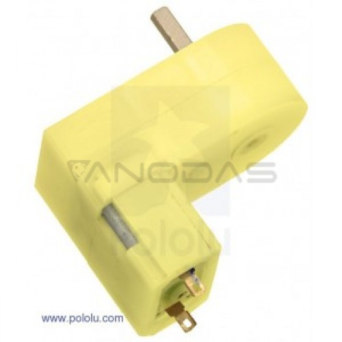 Pololu Mini Plastic Gearmotor 180:1 Offset 3mm D-Shaft Output