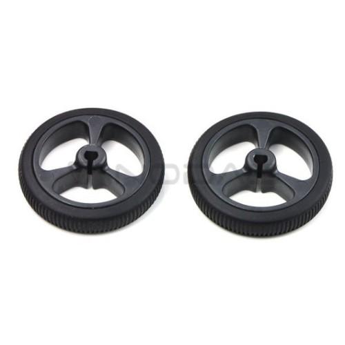 Pololu wheels 32x7 mm - black 2 pcs.