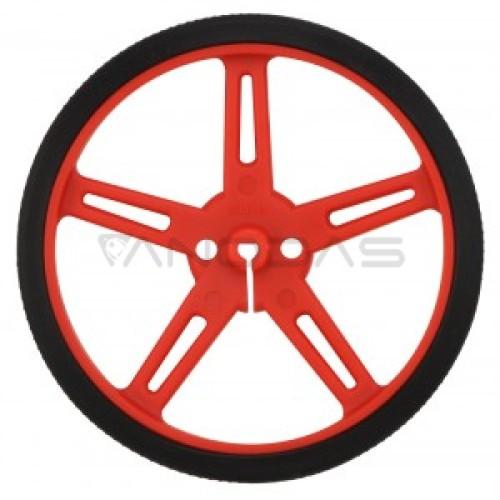 Pololu ratai 70x8mm raudoni - 2 vienetai