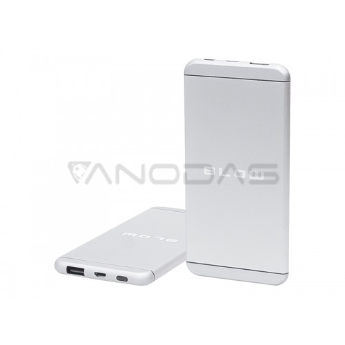 Power Bank 8000mAh 1xUSB PB17 Sidabrinis 2.1A