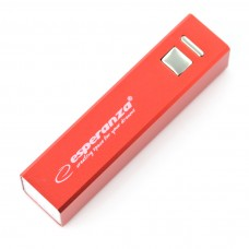 Power Bank Esperanza Erg EMP102R 2400mAh - raudona