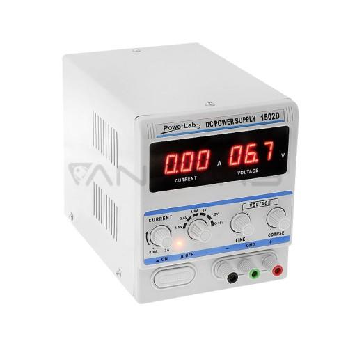 Power Lab 1502D Laboratorinis maitinimo šaltinis 15V 2A