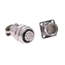Pramoninė cilindrinė jungtis C03 7 kontaktų