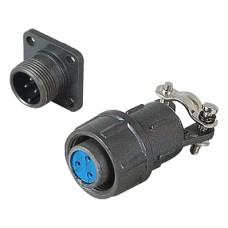 Pramoninė cilindrinė jungtis C05 4 kontaktų