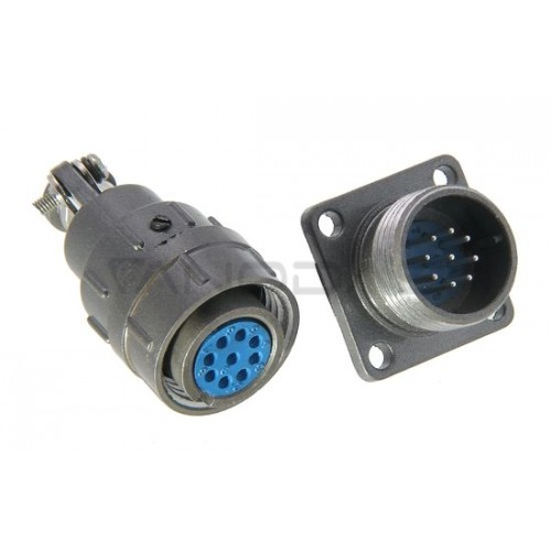 Industrial cylindrical connector C06 9pin