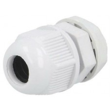 Cable gland M12 IP68 Mat polyamide white UL94V-2 12.1mm