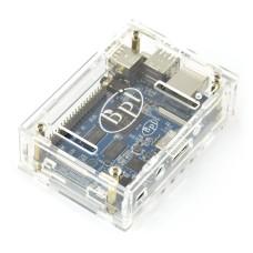 Dėžutė Banana Pi M2 Mikrokompiuteriui (permatoma)