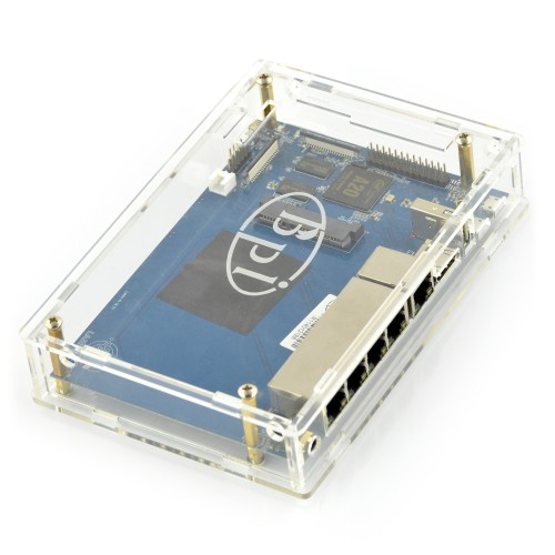 Case for Banana Pi R1 Router (transparent)