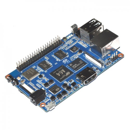 Banana Pi M64 2GB RAM + 8GB EMMC Quad-Core WiFi + BT 4.0 Mikrokompiuteris