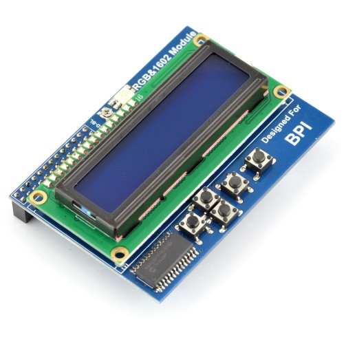 16x2 LCD Screen with Keyboard for Banana Pi