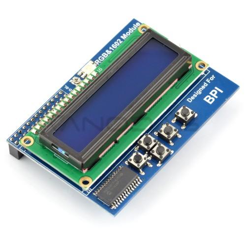 16x2 LCD Ekranas Su Klaviatūra Banana Pi