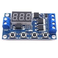 Programuojamas 1 kanalo laiko relės modulis 12V su LED indikatoriumi