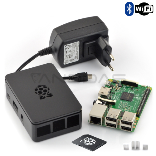 Raspberry Pi 3 All in one kit + 16GB microSD card with NOOBS