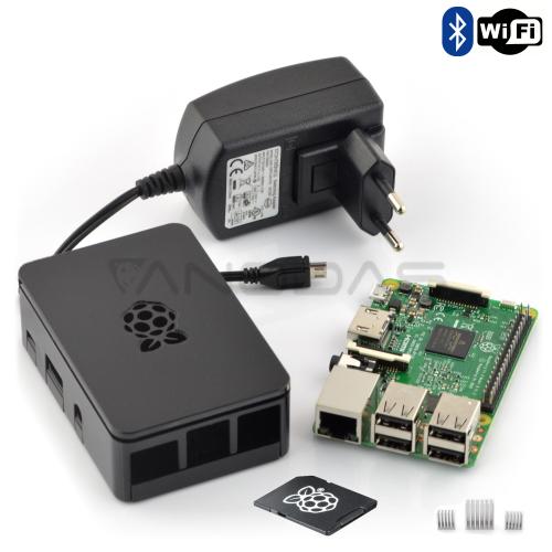 Raspberry Pi 3 rinkinys + 16GB microSD kortelė su NOOBS programine įranga