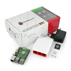 Raspberry Pi 3B WiFi + 32GB microSD + oficialių priedų rinkinys