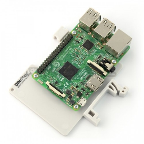 Raspberry Pi 4B/3B laikiklis ant DIN bėgelio - DRP2