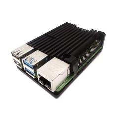 Raspberry Pi 4B aliumininis radiatorius - dėžutė juodos spalvos