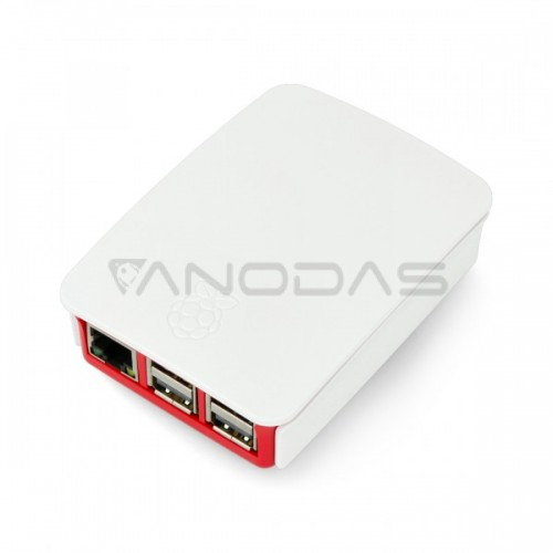 Raspberry Pi Case - Farnell - White/red