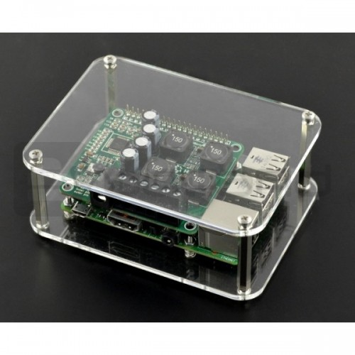 Raspberry Pi dėžutė - permatoma atvira