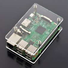 Case for Raspberry Pi Model 4B/3B+/3B/2B - transparent open V2