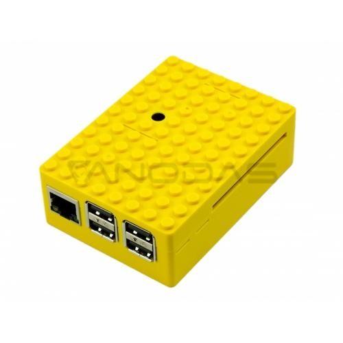 Raspberry Pi Dėžutė - Pi-Blox - Geltona