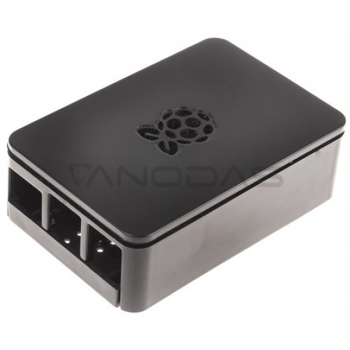 Raspberry Pi Dėžutė - RS Pro - Juoda
