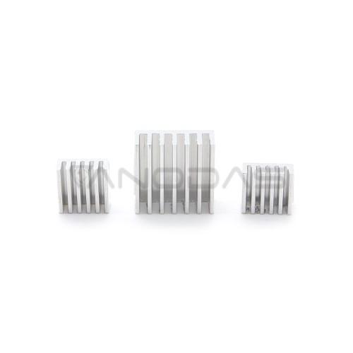 Aluminum Heatsinks for Raspberry Pi (3 Pieces)