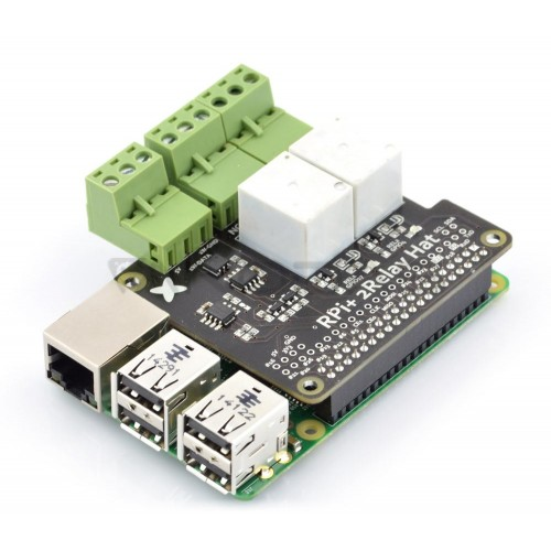 Raspberry Pi Relay Hat - 2 Channel 240V/10A