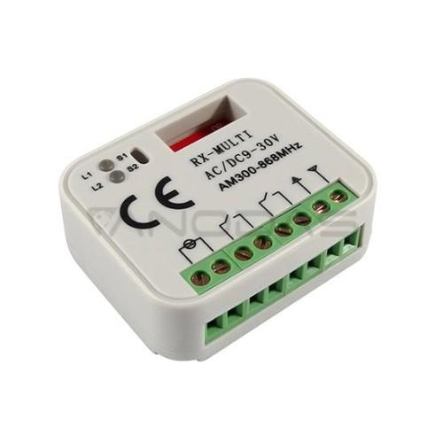 2 kanalų universalaus kodavimo rėlės modulis 12-30VDC. 300-868 Mhz