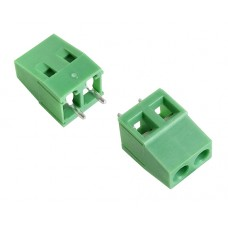 2 poles pitch 5.00mm height 14mm green colour