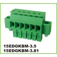 3 poles pitch 3.5mm height 18.9mm green color.
