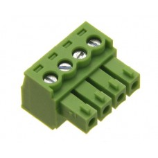 4 poles.pitch 3.81mm.height 15.4mm green color.clamp:phosphor bronze.tin plated