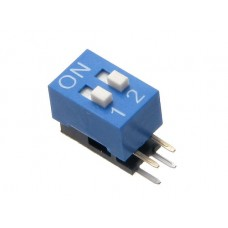 BA02G01B SAB dip-switch angle 2 contacts Right Angle type blue color