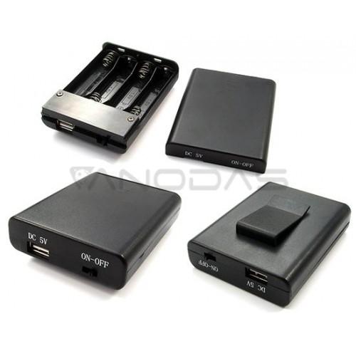 Baterijų laikiklis su USB lizdu 4x AA R6 Comf SBH341-3S/USB