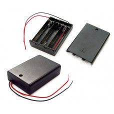 Battery holder for 3x AA R6 Comf SBH-331A with cover.black cables150mm