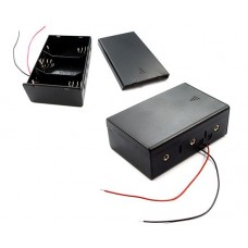 Battery holder for 3x D R20 Comf SBH-131A with cover.black cables 150mm