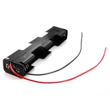 Battery holder for 4x AA R6 Comf BH-342-1A black cables 150mm
