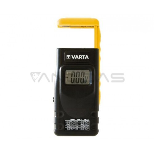 Battery tester for AAA AA C D 9V button cells Varta
