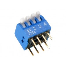 BP05GB SAB dip-switch piano 5 contacts PCB type blue color