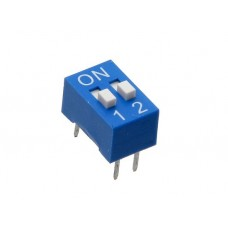 BS02GB SAB dip-switch slide 2 contacts blue color
