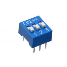 BS03GB SAB dip-switch slide 3 contacts blue color