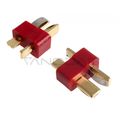 Dean-T connector male red 2 poles