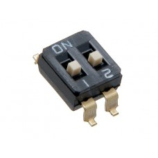 DIS02G01 SAB dip-switch 2 contacts SMD montage p 2.54mm
