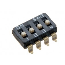 DIS04G01 SAB dip-switch 4 contacts SMD montage p 2.54mm