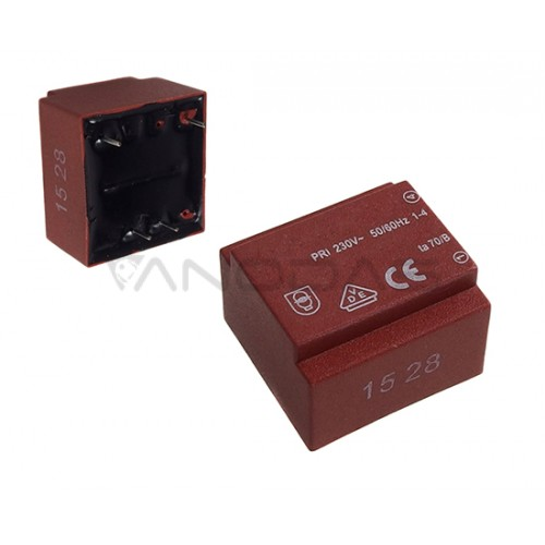 Encapsulated transformer 0.35VA 230V/6V 58mA Ta=70
