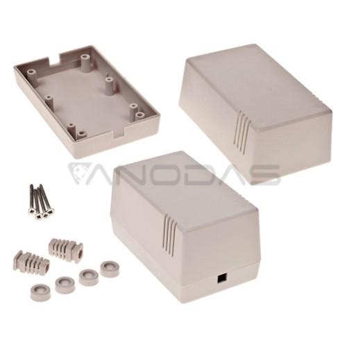 Plastikinė dėžutė Kradex Z16J PS šviesiai pilka 114x70x63mm